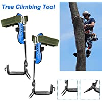 Cinturón de rescate con cuerda de cordón ajustable 2 engranajes Juego de picos de escalada para árboles Cinturón de seguridad