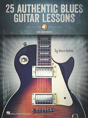 25 Authentic Blues Guitar Lessons: Noten, Sammelband für Gitarre