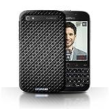 Stuff4® Hülle/Hülle für BlackBerry Classic/Q20 / Grau Muster/Kohlenstoff-Faser-Muster Kollektion