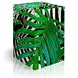 murando Papphocker Motiv Blätter 45x30x30 cm faltbar Papier Hocker ergonomischer Karton Photohocker Falthocker b-B-0342-ap-a