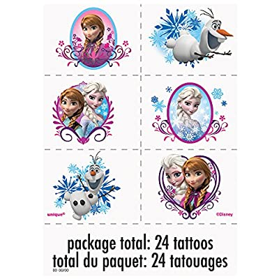 Disney Frozen Tattoos, 24ct de Disney Frozen