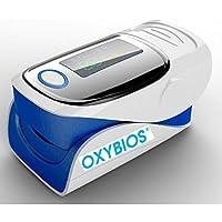 """DOIGT OXYMETRE DE POULS BLEU """"Tout en Un"""" portable et Cardiofréquencemètre avec notice en français. Analyse et mesure la…"""