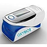 """'DITO oxymetre di polso blu""""Tutto in un portatile e cardiofrequenzimetro con istruzioni in francese. Analisi e misura la saturazione in ossigeno nel sangue SpO2-Monitor di frequenza cardiaca"""