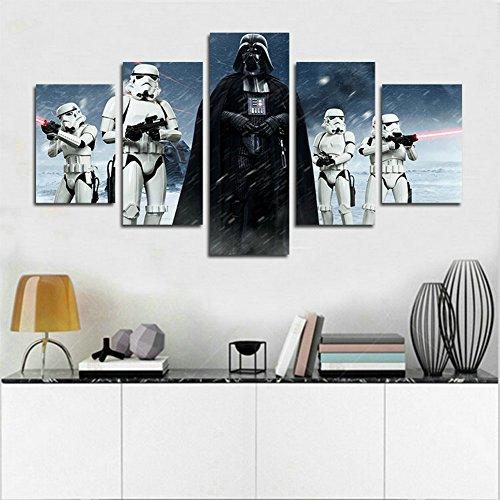 51NrP9lyqGL - YspgArt66 - Lienzo Impreso, 5 Piezas, diseño de Star Wars Darth Vader, Lienzo, para decoración del hogar, Sala de Estar, Oficina o Regalo (sin Marco)