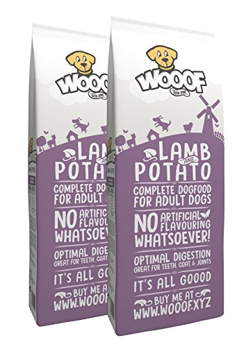 Jetzt neu: Wooof mit Lamm und Kartoffeln 28kg kaltgepresstes Hundefutter, 100{f59d5071ae979896dfbfac40477db5260f5e853355dc98dc364e0344f74262c8} getreidefrei und glutenfrei, natürliche Zutaten, hoher Fleischanteil, leicht verdaulich, reich an Eiweiß, Trockenfutter