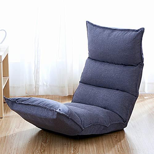 JiaQi 14-Position-Memory-Schaum Stock Stuhl,Sofa faul,Falten Lounge Chair Ideal für Spiele Meditation lesen Komfortable rückenlehne-Grau -