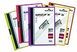 Durable 999109940 Duraclip Klemm-Mappen Original 30 für DIN A4, Beutel 5 Stück, farbig sortiert