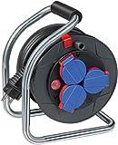 Brennenstuhl Super-Solid Kompakt IP44 Gewerbe-/Baustellen-Kabeltrommel (10m - Spezialkunststoff, Baustelleneinsatz und Einsatz im Außenbereich, Made In Germany) schwarz