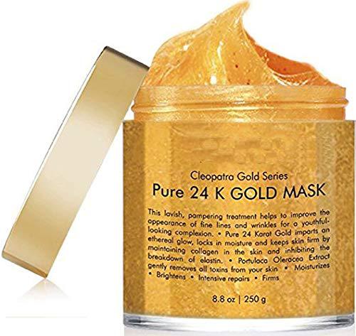 Leistungsstarke Antioxidantien-formel (ZUZU 24 K Gold Gesichtsmaske 8,8 Unzen - Goldmaske für Anti-Falten-Anti-Aging-Gesichtsbehandlung, Porenminimierer, Aknenarbenbehandlung und Mitesserentferner)