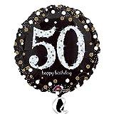 Amscan 3213101-50. Geburtstag-Folien-Luftballons