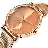 Armbanduhr Damen Ronamick Damen Mode Klassiker Goldquarz Edelstahl Armbanduhr Armband Uhr Uhren (Gold)