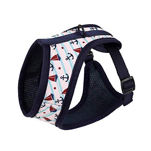 Welpen Kostüm K9 - Mile High Life Hundegeschirr für Katzen und Hunde, weiches Netzgewebe, Pink/Blau / Weiß, Small Chest 13