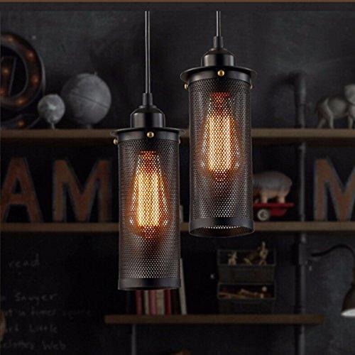 KINGSO Vintage Retro Metall Wandleuchte Wandlampe Loft Lampe Industrielampe Rohr Licht für Bar Café Laden Restaurant Wohnung Hotel mit E27 Edison Lampenfassung Bronze