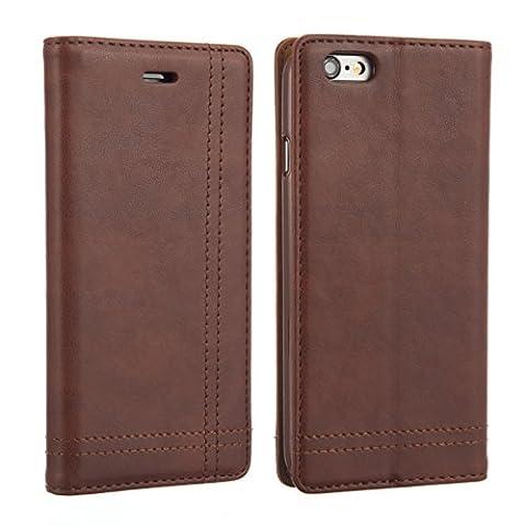 iPhone 7plus/7+ [Größe 14cm Zoll] nwnk13® Leder Folio Book Case Wallet Cover [Kick (Bag Boy Hybrid Travel Case)