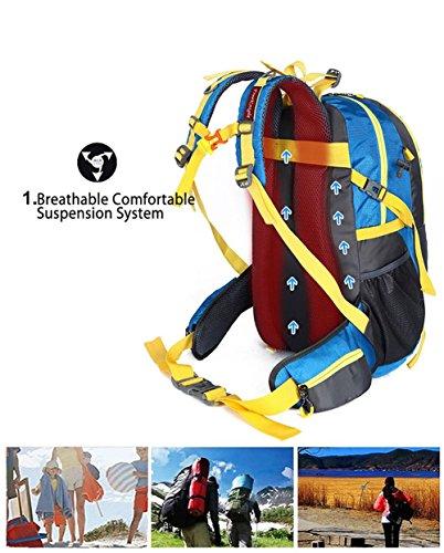 40L spalla traspirante Zaino Outdoor viaggio escursionismo alpinismo unisex arrampicata Borse Zaino , 3 5