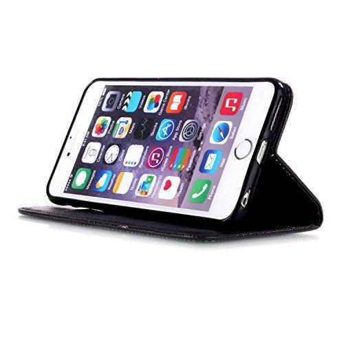 Ooboom® iPhone 6/6S Plus Hülle Flip PU Leder Schutzhülle Handy Tasche Case Cover Wallet Standfunktion mit Kartenfächer Trageschlaufe - Weltkarte Have a nice day