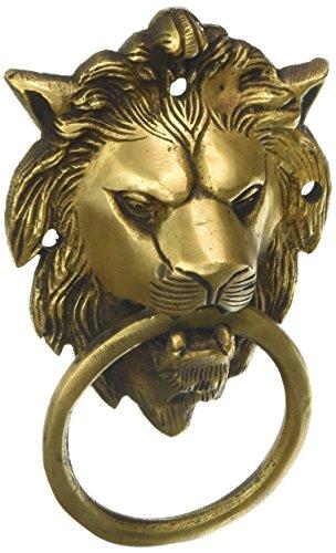 MP manualidades latón tallado a mano cabeza de león aldaba para puerta envejecido Look para hogar tienda de puerta, puerta, decorativo, y regalo