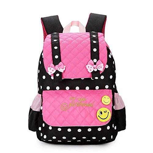Essvita zaini scuola daypack per elementare ragazze stile b rosa nero