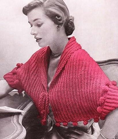 Bedjacket #2325 Vintage Knit Knitting Pattern Bed Jacket