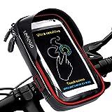 LEMEGO Borsa Bici Ciclismo Telaio Supporto da Bicicletta Impermeabile Manubrio con Tubo Superiore per iPhone X 8 7 6 Plus Samsung Galaxy S8 S7 S6 Edge Smartphone Android Fino a 6 Pollici (Rosso)