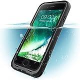 iPhone 8 Hülle, i-Blason [Aegis] Wasserdicht Handyhülle Ganzkörper Schutzhülle Robustes Case Schale mit eingebautem Displayschutzfolie (Kompatibel mit Apple iPhone 7 / iPhone 8) (Schwarz)