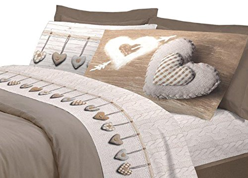 Claire Maison koordinierte Bett Beige Doppelbett 250x 300cm + 2/52x 82cm
