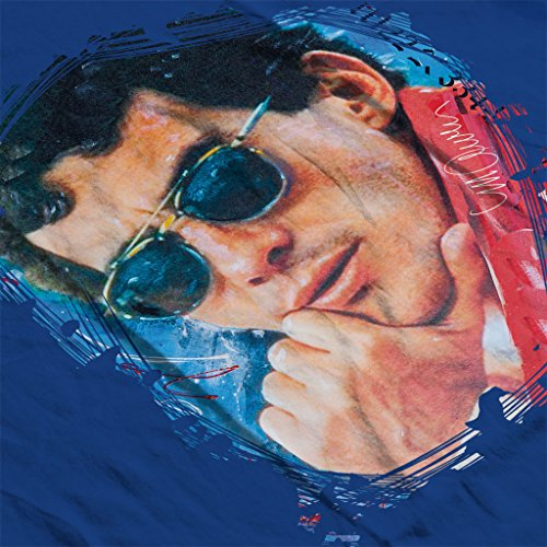 Sidney Maurer Ayrton Senna Official Women's Sweatshirt Royal Blue