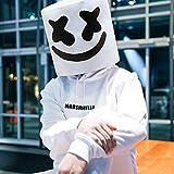 XIAO MO GU DJ Marshmello Maschera, Marshmello Casco Halloween Costume Cosplay Testa Piena novità Maschera per Adulti Bar Puntelli Musicali
