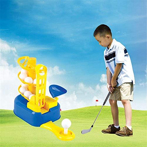 Golfset Golfspiel Golfspielzeug-Set, Golfballspiel, Sport-Gaming-Clubs, Lernen, Aktiv, Früherziehung, Übungsspielzeug im Freien für 3, 4, 5, 6, 7-Jährige Kinder, Kleinkinder, Junge ()