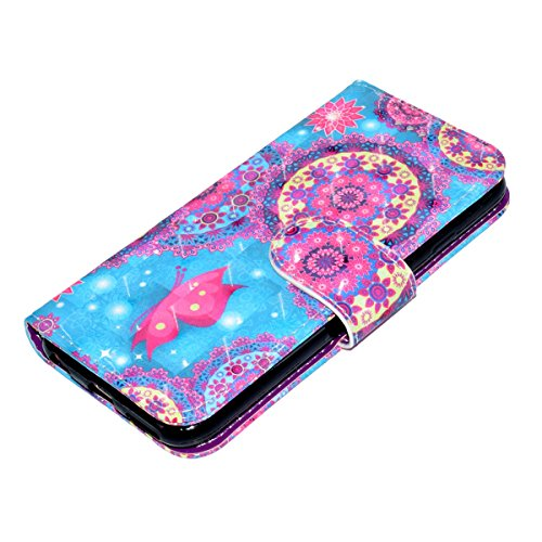 Custodia iPhone 6, iPhone 6S Cover Wallet, SainCat Custodia in Pelle Flip Cover per iPhone 6/6S, Ultra Sottile Anti-Scratch Book Style Custodia Morbida Cover Protettiva Caso PU Leather Custodia Libret Farfalla
