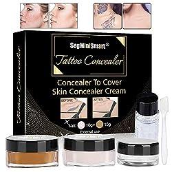 Tattoo Cover,Tattoo Concealer,Concealer,Tattoo Entferner,Professionelle Wasserdichte Tattoos vertuschen Make-up Concealer Tattoo Narbe Muttermale Vitiligo Set
