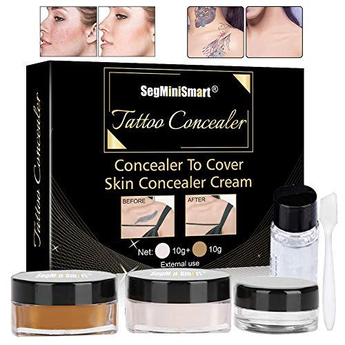 Anti-cernes correcteur,Correcteur anti cernes,Correcteur de cicatrice,Correcteur de tatouage professionnel pour les cicatrices imperméable imperméable à l'eau couvrant le maquillage ensemble crème