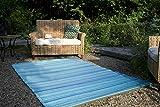Fab Hab Hab - Cancun - Türkis & Moosgrün - Teppich/Matte für Den Innen- und Außenbereich (120 cm x 180 cm)