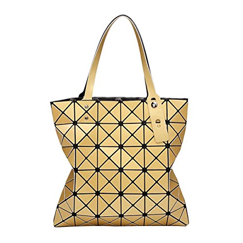 Frauen Geometrische Mode Matte Umhängetasche Gold