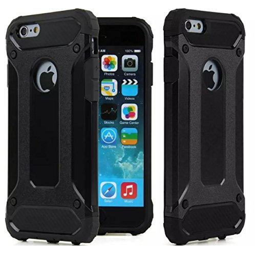 eBookshare Downloads iPhone 5C Case, Rugged Tough Dual Layer Armor Case iPhone 5C Protective Case Shockproof Case Cover for iPhone 5C [Heavy Duty] [Slim Hard Case] BY AMPLE® (BLACK) iBook