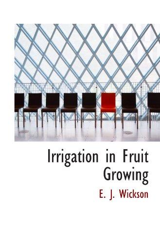 Irrigation in Fruit Growing