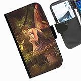 Hairyworm- Feen Seiten Leder-Schützhülle für das Handy Samsung Galaxy S5 Plus (SM-G901F)