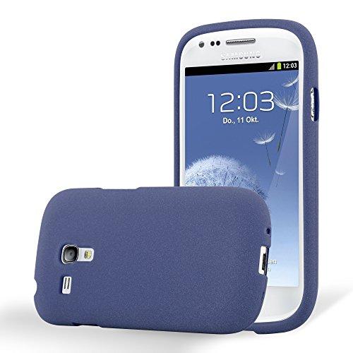Cadorabo Custodia per Samsung Galaxy S3 Mini in Frost Blu Scuro - Morbida Cover Protettiva Sottile di Silicone TPU con Bordo Protezione - Ultra Slim Case Antiurto Gel Back Bumper Guscio