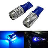 #8: Leebo T10 LED Parking Bulb or Pilot Light BLUE High Power Projector LED Set of 2 for For all Bikes