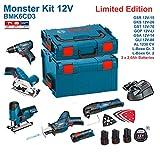 BOSCH Kit 12V BMK6CD3 (GSR 12V-15 + GKS 12V-26 + GST 12V-70 + GOP 12V-LI + GSA 12V-14 + GLI 12V-80 +...