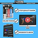 Fit Nation Premium Resistance Bands Home Workout Set, The Only 3 You Need (Exercise E-Book Included) Preferred Set of 3 Eco-Friendly Latex Exercise Bands For Men & Women #ResistanceBands