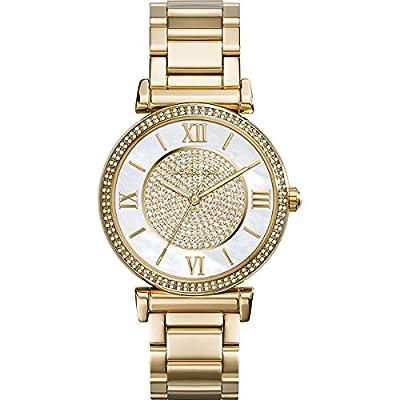 Michael Kors MK3332 - Reloj de cuarzo para mujer, correa de acero inoxidable color dorado