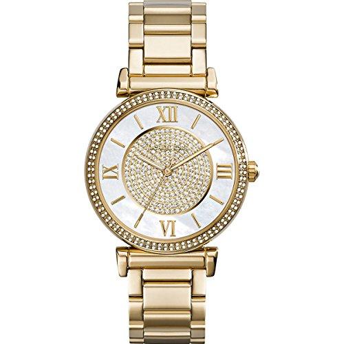 Michael Kors Damen Analog Quarz Uhr mit Edelstahl Armband MK3332