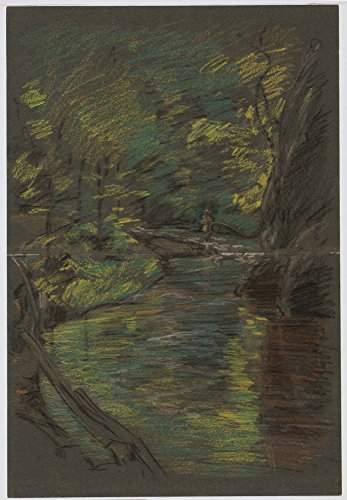 Das Museum Outlet-Connecticut Forelle Stream, 1903, gespannte Leinwand Galerie verpackt. 29,7x 41,9cm