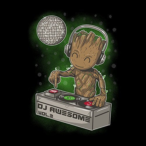 Guardians Of The Galaxy DJ Awesome Baby Groot Women's Sweatshirt Black