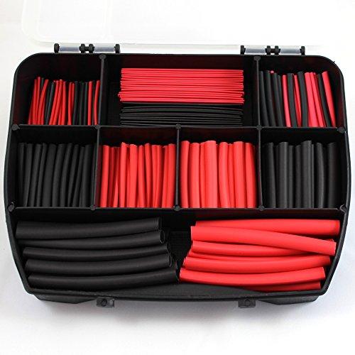 300-stuck-schwarz-und-rot-schrumpfschlauch-set-fur-fahrzeugkabel-fahrzeugleitung-kupfer-litze-fur-au