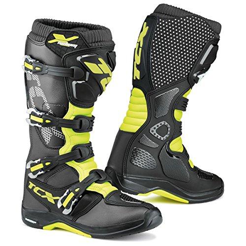 9671 - TCX X-Helium Michelin Motocross Boots 40 Black Yellow Fluo (UK 7)