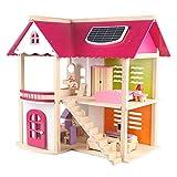 Cvbndfe DIY Haus Miniatur Puppenhaus Kits Zimmer Rollenspiel Kinder Spielzeug Robust Holz Uptown Puppenhaus Mit Möbel Jungen Mädchen Vorzüglich