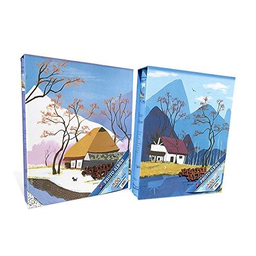 Zhi Jin familia álbum de fotos antideslizante en el libro de álbumes de fotos (200bolsillos 6x 4, cumpleaños aniversario con caja de regalo, color Bus Blue