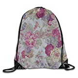 gthytjhv Kordelzug Bag Flowers Ideas Rucksack for Gym Hiking Travel Customized Color 02 Lightweight Unique 16.9x14.2